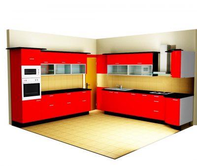 Modern konyha - magasfényű frontokkal